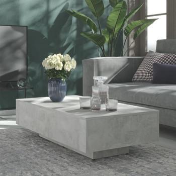 vidaXL Stolić za kavu siva boja betona 115 x 60 x 31 cm od iverice