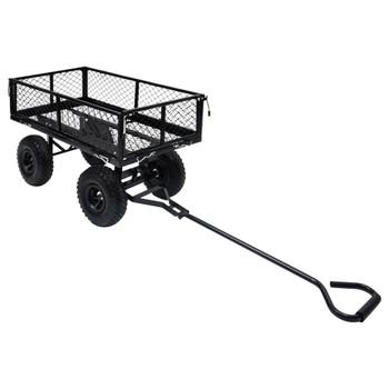 vidaXL Vrtna ručna kolica crna 250 kg