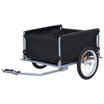 vidaXL Prikolica za bicikl crno-siva 65 kg