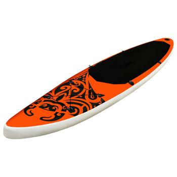 vidaXL Set daske na napuhavanje za veslanje 320x76x15 cm narančasti