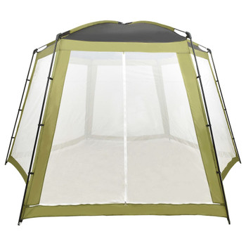 vidaXL Šator za bazen od tkanine 500 x 433 x 250 cm zeleni