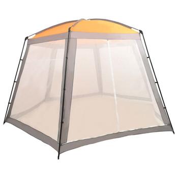 vidaXL Šator za bazen od tkanine 500 x 433 x 250 cm sivi