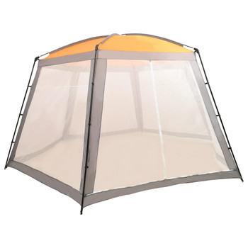 vidaXL Šator za bazen od tkanine 590 x 520 x 250 cm sivi