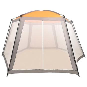 vidaXL Šator za bazen od tkanine 660 x 580 x 250 cm sivi