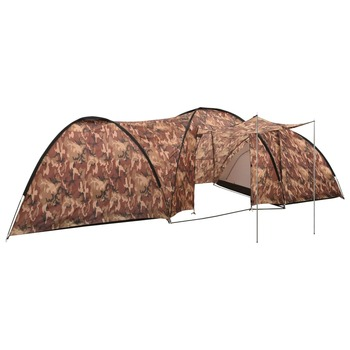 vidaXL Šator za kampiranje 650 x 240 x 190 cm za 8 osoba maskirne boje