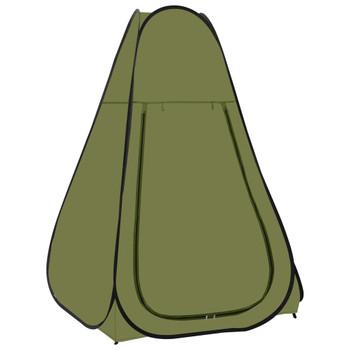 vidaXL Prigodni šator za tuširanje zeleni