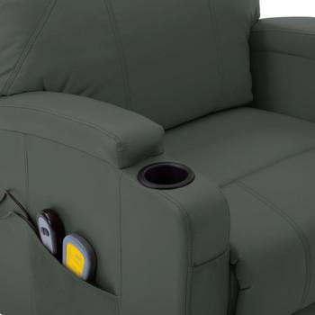 vidaXL Masažna fotelja na podizanje od umjetne kože antracit