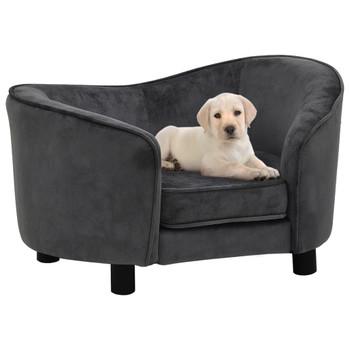 vidaXL Sofa za pse tamnosiva 69 x 49 x 40 cm plišana