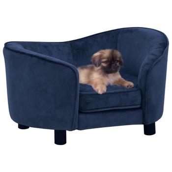 vidaXL Sofa za pse plava 69 x 49 x 40 cm plišana