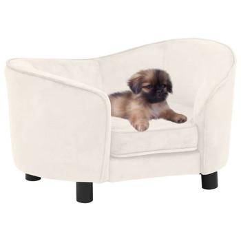 vidaXL Sofa za pse krem 69 x 49 x 40 cm plišana