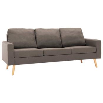 vidaXL 3-dijelni set sofa od tkanine smeđe-sivi