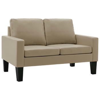 vidaXL 2-dijelni set sofa od umjetne kože boja cappuccina