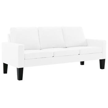 vidaXL 2-dijelni set sofa od umjetne kože bijeli