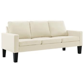 vidaXL 2-dijelni set sofa od umjetne kože krem