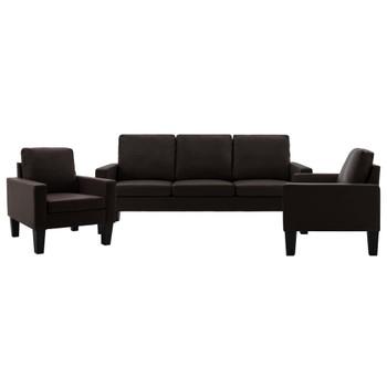 vidaXL 3-dijelni set sofa od umjetne kože smeđi