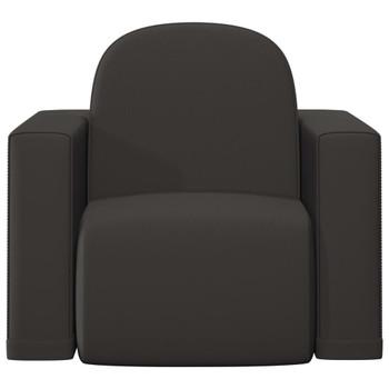 vidaXL 2-u-1 dječja sofa od umjetne kože crna