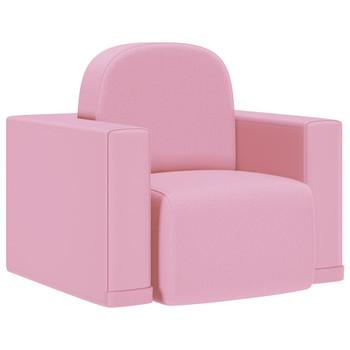 vidaXL 2-u-1 dječja sofa od umjetne kože ružičasta