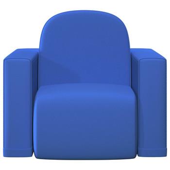 vidaXL 2-u-1 dječja sofa od umjetne kože plava
