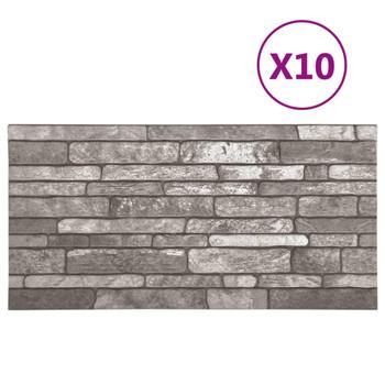 vidaXL 3D zidni paneli s uzorkom tamnosivih cigli 10 kom EPS