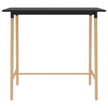 vidaXL Barski stol crni 120 x 60 x 105 cm MDF i masivna bukovina