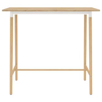 vidaXL Barski stol smeđi 120 x 60 x 105 cm MDF i masivna bukovina
