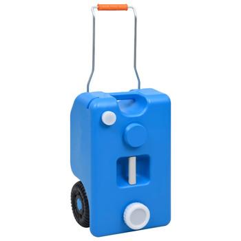 vidaXL Spremnik za vodu na kotačima za kampiranje 25 L plavi