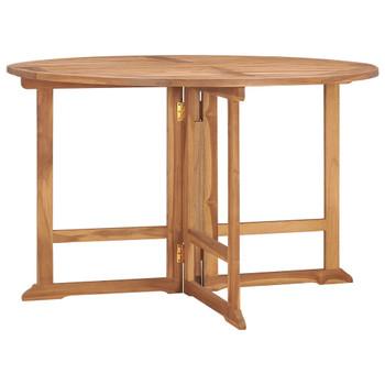 vidaXL Sklopivi vrtni blagovaonski stol Ø 120 x 75 cm masivna tikovina