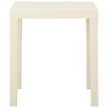 vidaXL Vrtni stol bijeli 79 x 65 x 72 cm plastični