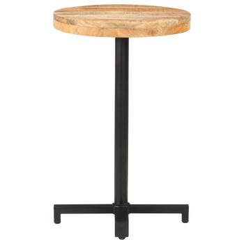 vidaXL Bistro stolić okrugli Ø 50 x 75 cm od grubog drva manga