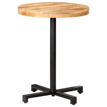 vidaXL Bistro stolić okrugli Ø 60 x 75 cm od grubog drva manga