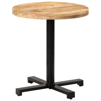 vidaXL Bistro stolić okrugli Ø 70 x 75 cm od grubog drva manga