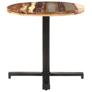 vidaXL Bistro stolić okrugli Ø 70 x 75 cm od masivnog obnovljenog drva