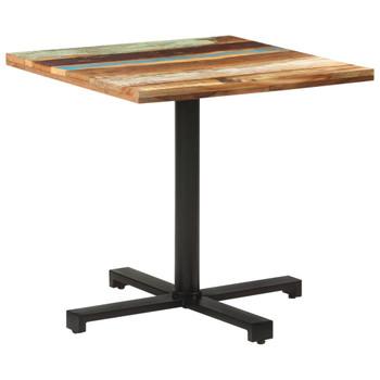 vidaXL Bistro stol četvrtasti 80 x 80 x 75 cm masivno obnovljeno drvo