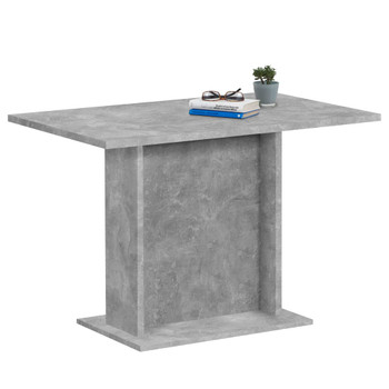 FMD blagovaonski stol 110 cm siva boja betona