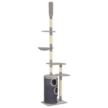 vidaXL Penjalica za mačke sa stupovima za grebanje siva 260 cm