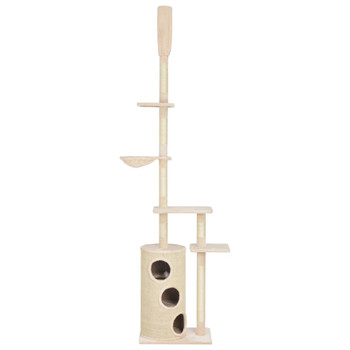 vidaXL Penjalica za mačke sa stupovima za grebanje bež 260 cm