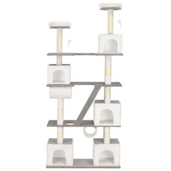 vidaXL Penjalica za mačke sa stupovima za grebanje bijela 225 cm