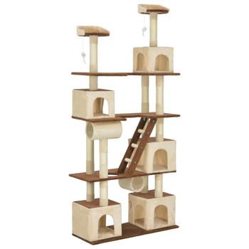 vidaXL Penjalica za mačke sa stupovima za grebanje bež 225 cm