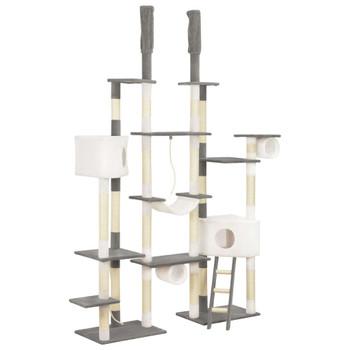 vidaXL Penjalica za mačke sa stupovima za grebanje siva 234 cm