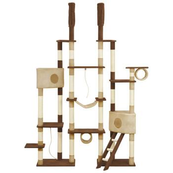 vidaXL Penjalica za mačke sa stupovima za grebanje smeđa 234 cm