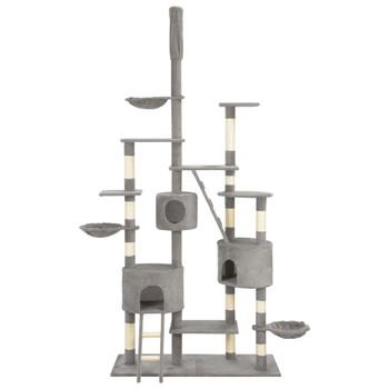 vidaXL Penjalica za mačke sa stupovima za grebanje siva 255 cm