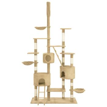 vidaXL Penjalica za mačke sa stupovima za grebanje bež 255 cm