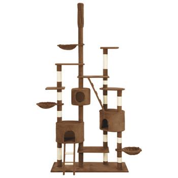 vidaXL Penjalica za mačke sa stupovima za grebanje smeđa 255 cm