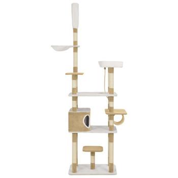 vidaXL Penjalica za mačke sa stupovima za grebanje bež 235 cm