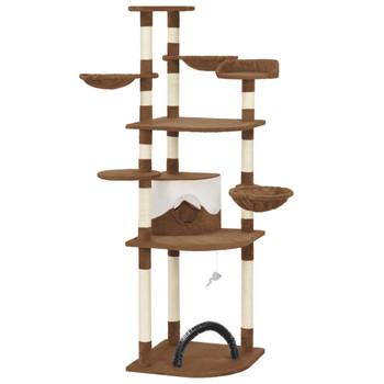 vidaXL Penjalica za mačke sa stupovima za grebanje smeđa 190 cm