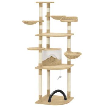 vidaXL Penjalica za mačke sa stupovima za grebanje bež 190 cm