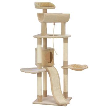 vidaXL Penjalica za mačke sa stupovima za grebanje bež 145 cm