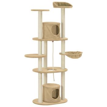 vidaXL Penjalica za mačke sa stupovima za grebanje bež 160 cm