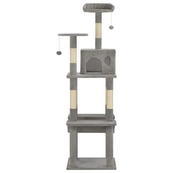 vidaXL Penjalica za mačke sa stupovima za grebanje siva 165 cm