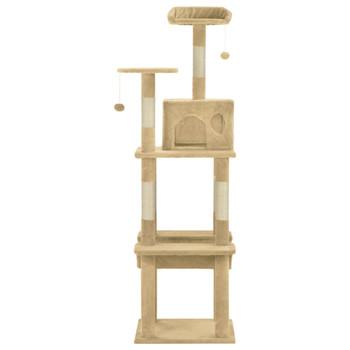 vidaXL Penjalica za mačke sa stupovima za grebanje bež 165 cm